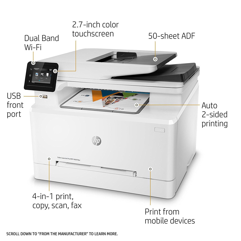 צעיר מדפסת לייזר משולבת צבע - HP Color LaserJet Pro MFP M281fdw - קופי WC-19