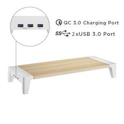 מעמד למסך מחשב עם USB